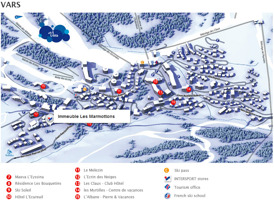 Access map Intersport Vars